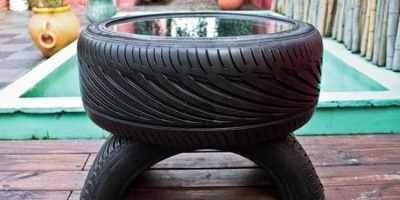 Comment transformer un vieux pneu en un meuble design ?