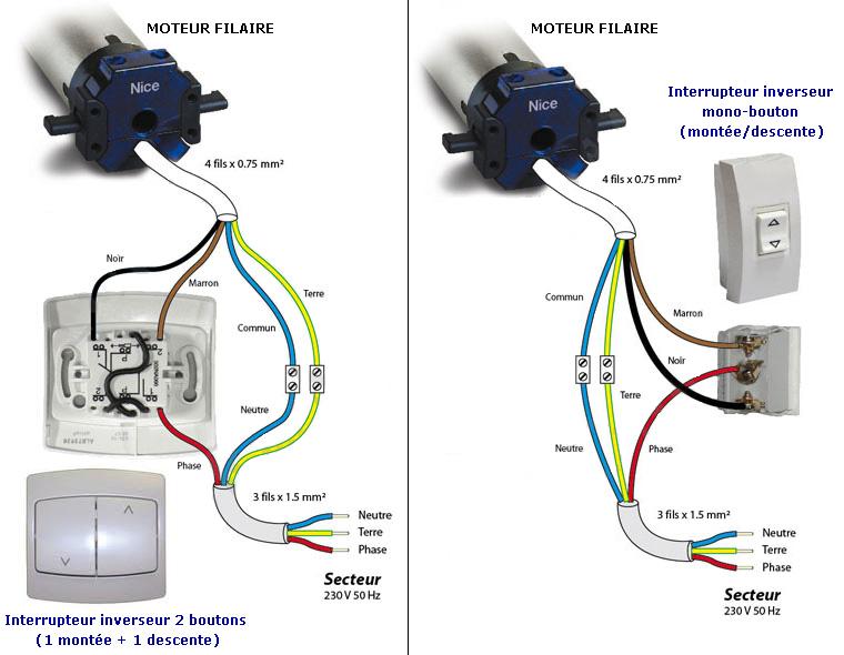 Schema Montage Interrupteur Volet Roulant