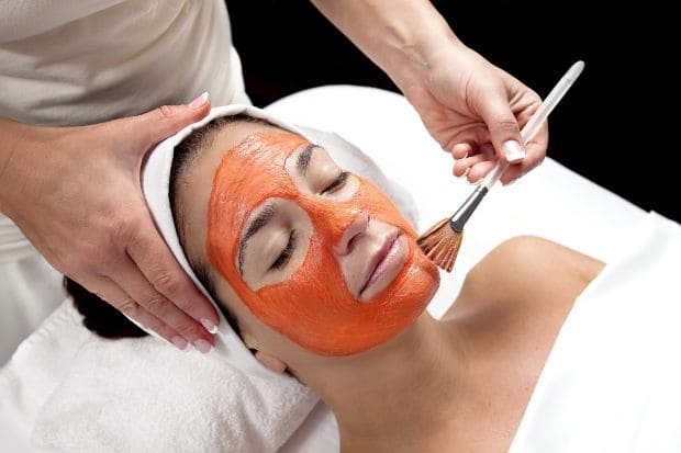 masque de visage au carotte