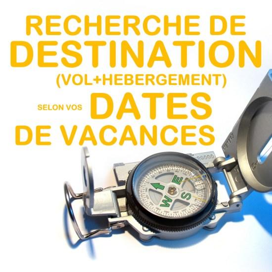 recherche d'une destination de vacances