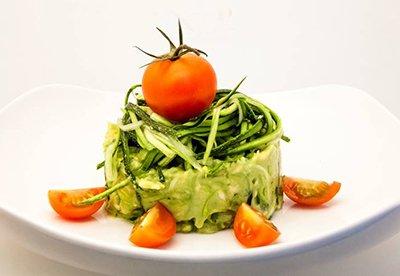 Resultado de imagen de espagueti calabacin con guacamole