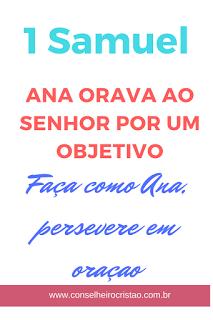 Ana orava ao Senhor, oração de Ana