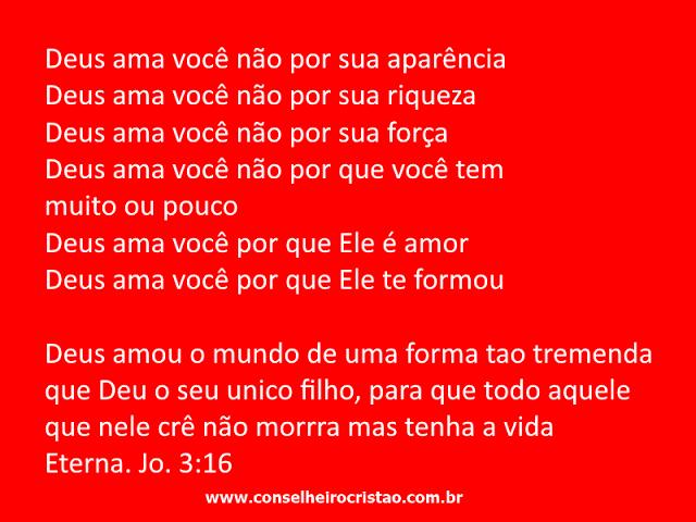 Deus ama você não por que você tem muito ou pouco - Conselheiro Cristão