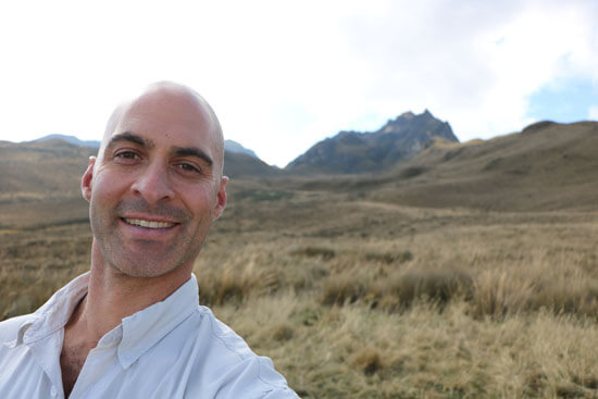 Dr. Kriger on the slopes of Rucu Pichincha, where he led a hike during the inaugural Save The Frogs! Ecuador Ecotour.