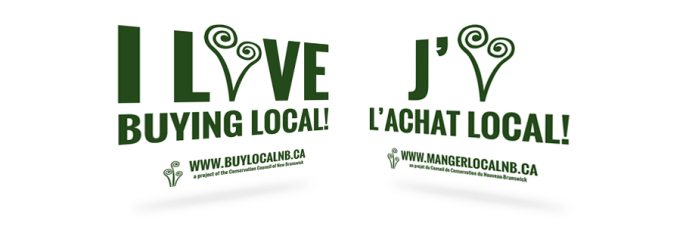 Buy Local NB Bumper Stickers