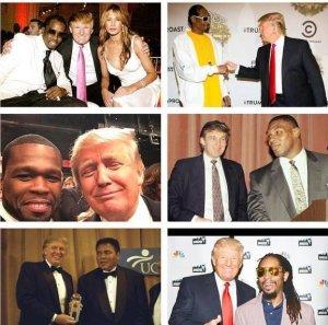 trump black