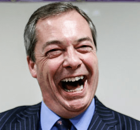 FARAGE big laugh