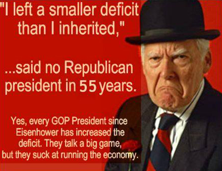 Image result for republican deficit hypocrisy