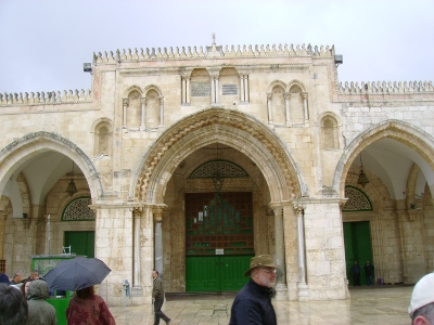 The Al Aqsa Mosque on the Temple Mount. Under a two state solution, a non-Muslim could not take this picture. Does Norah O'Donnell contest this?