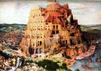 "Tower of Babel, ancient counterpart to the United Nations. The first globalist or one-world government. They, too, used ""together"" as a deceptive euphemism. This did not impress God. Collectivism is no substitute for worship. In politics, America must stand for Pittsburgh, not Paris, and certainly not Babylon, ancient or modern."