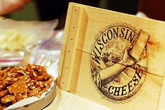 A case of Wisconsin cheese