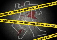 A crime scene under investigation.