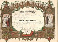 An 1875 marriage certificate. This represents part of our American cultural norms that come under attack on a broad front.