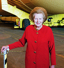 Margaret Thatcher tours the Kennedy Space Center