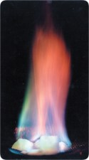 Flaming ice containing methane