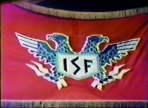 Shadow on the Land - ISF flag. Convenient chaos might make this real. The answer is the Come and Take It flag.