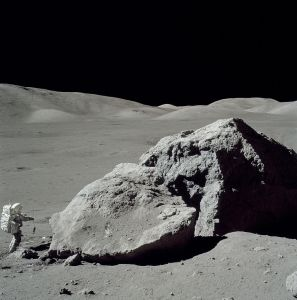 Gene Cernan and Harrison Schmitt discovered a thin atmosphere on the moon, consistent with the moon losing orbital energy to aerobraking about 5300 years ago.