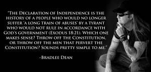 Bradlee Dean comments on the American Declaration of Independence
