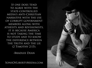 We will be ruled by God or tyrants - Bradlee Dean