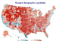 Trump Derangement Syndrome and the reason for it. This map shows the magnitude of the force behind the counter-coup, the defeat of the progressives, and the victory of Donald Trump. He promised to Make America Great Again. He can't do it until he regains control of his own administration.