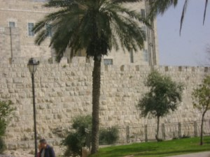 A battlemented wall in West Jerusalem. The Fast of Tevet marks the siege of this city by Nebuchadnezzar.
