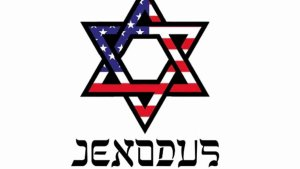 The Jexodus symbol and legend, a response to the anti-Semitism in the Democratic Party. But will massive aliya overtake a mere exist from the left?