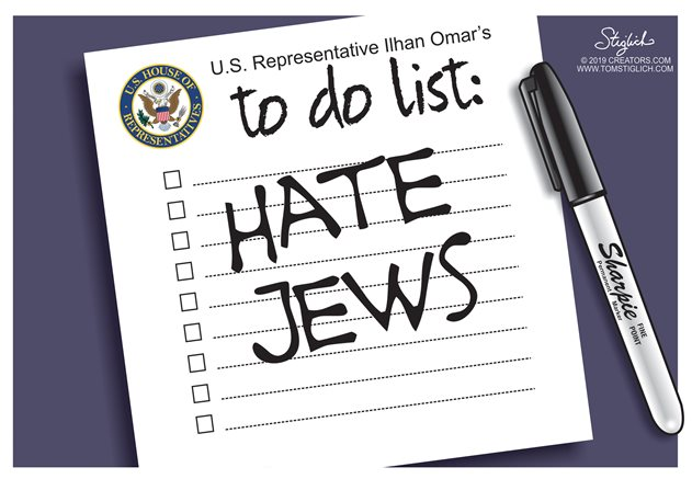 Has Rep. Ilhan Omar anything better to do than attack Jews in public? Antisemitism - Jew hate - at a new level.