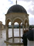 Temple Mount fountain stand. The one place Jews have on the Temple Mount.