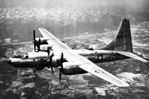 This B-32 Dominator never figured in the destruction of any cities, but perhaps in photographing them.