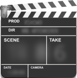 Time-honored tool for making movies - the clapboard