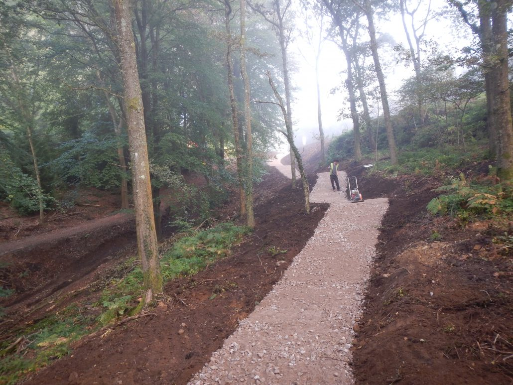 Adaptive Bike Trail Construction Launch Pad Forest Of