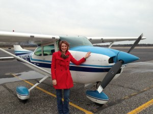 Stephanie Egger of CWFNJ, before take off.