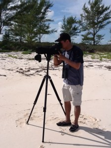 Alfredo Alvarez, Biologist for Pronatura Noreste in Mexico, scopes out the ocean side beach for roosting Piping Plovers.