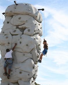 Rock climbing wall, NJ WILD Outdoor Expo