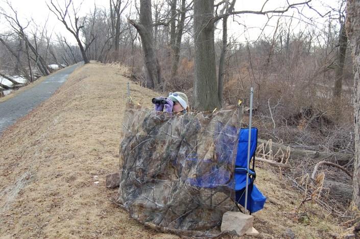 Karin Buynie monitors the Crosswicks Creek nest @ Kevin Buynie