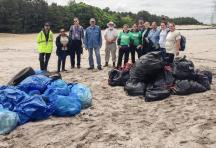 All the trash cleaned up at Barnegat Bay