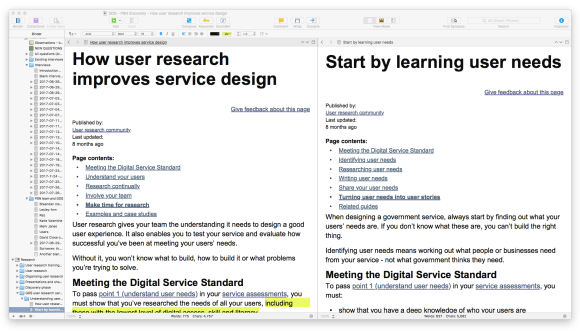 Scrivener being used for user research