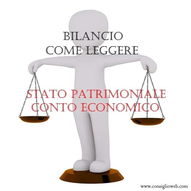 BILANCIO come leggere: stato patrimoniale - conto economico