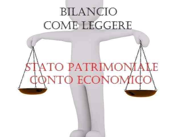 bilancio imparare a leggere stato patrimoniale conto economico