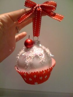 palline di natale cupcake