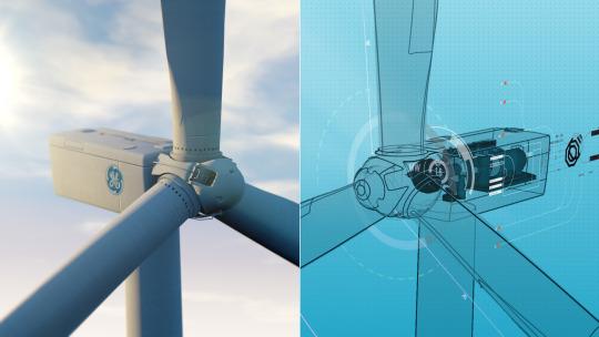 GE wind turbine digital twin