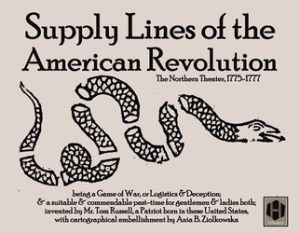 Supply Lines of the American Revolution (new from Hollandspiele)
