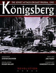 Konigsberg: The Soviet Attack on East Prussia, 1945 (new from Revolution Games)