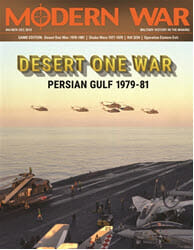 Modern War, Issue 4: Desert One War (new from Decision Games)