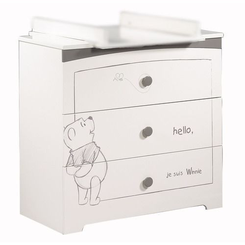 commode 3 tiroirs adorable pooh sauthon