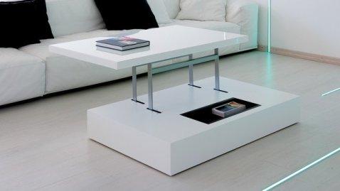 table basse relevable carrée pour bureau