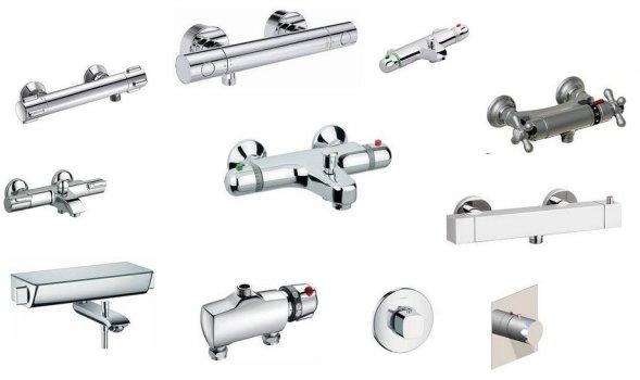 tous les styles de mitigeurs thermostatique douche et baignoire