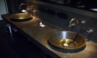 double vasque en métal
