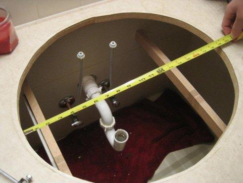 installation vasque a encastrer