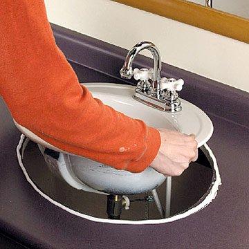 silicone sur vasque à encastrer